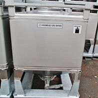 Unused 1000 liter IBC-bulk container, Aisi 304