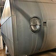 21000 Liter liegende Lagerbehälter aus V2A mit Isolierung