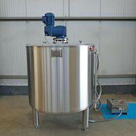 Werksneuer 1000 Liter temperierbarer Mischbehälter aus V2A mit Ankerrührwerk