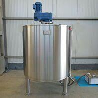 Werksneuer 1500 Liter temperierbarer Mischbehälter aus V2A mit Ankerrührwerk