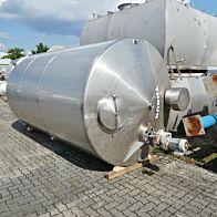 10000 Liter heiz-/kühlbarer Rührwerksbehälter aus V4A mit Propellerrührwerk