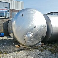 12000 Liter heiz-/kühlbarer Druckbehälter aus V2A