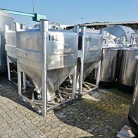 1370 Liter Schüttgutcontainer aus V4A (hochlegierter Sonderwerkstoff)