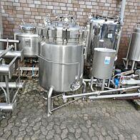 400 Liter heiz-/kühlbarer Druckbehälter aus V4A mit Magnetrührwerk