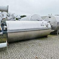 10000 Liter heiz-/kühlbarer Lagertank aus V2A