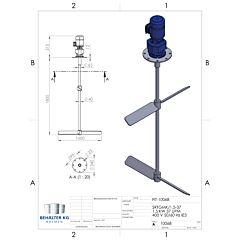Werksneues 1,5 KW / 37 Upm Balkenrührwerk-FIT/B