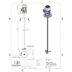 Werksneues 1,5 KW / 1410 Upm Propellerrührwerk-FIT/SL