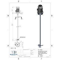 Werksneues 3,0 KW / 1000 Upm Propellerrührwerk-FIT/SL
