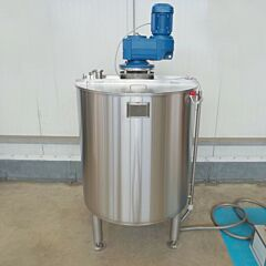 Brand new 500 liter jacketed mixing tank with anchor agitator, AISI304