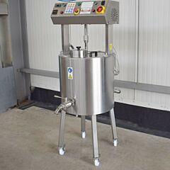 100 Liter elektrisch beheizbarer Rührwerksbehälter aus V2A