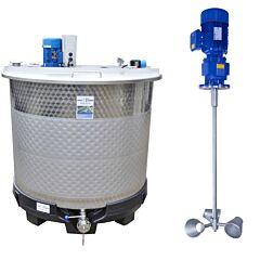 Werksneuer Rührwerksbehälter 1150 L aus V2A