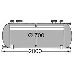 650 Liter Behälter aus V4A