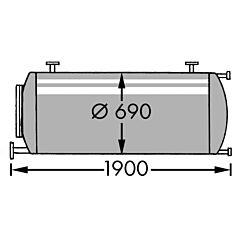 600 Liter Behälter aus V4A