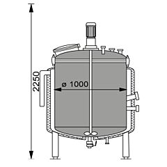630 Liter Behälter aus V2A