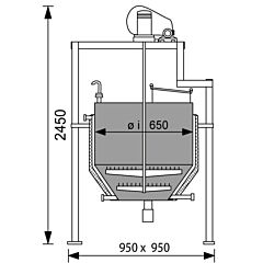 100 Liter Behälter aus V4A