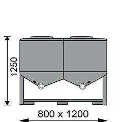 400 Liter Behälter aus Aluminium