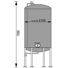 33280 Liter Behälter aus V2A