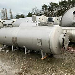 5000 liter horizontal tank, Aisi 316