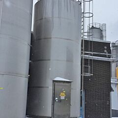 35000 liter heat-/coolable insulated storage tank, Aisi 304