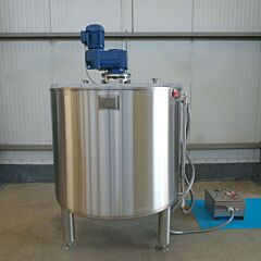 Brand new 1000 liter jacketed mixing tank with anchor agitator, AISI304