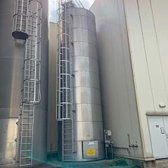 40000 liter heatable storage tank, AISI316L