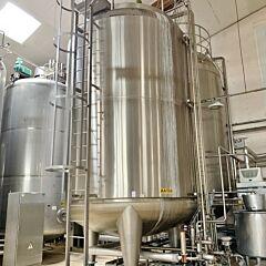 40656 Liter heiz-/kühlbarer Druckbehälter / Steriltank aus V2A