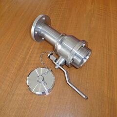 Kugelhahn DN50 aus V2A