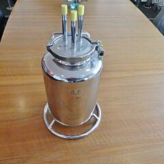6,8 Liter Behälter aus V4A
