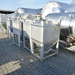 650 Liter Schüttgutcontainer aus V4A