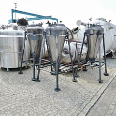 265 liter heat-/coolable pressure tank, Aisi 304