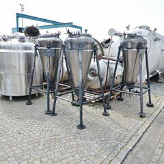 265 Liter heiz-/kühlbarer Druckbehälter aus V2A