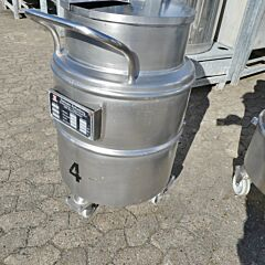 100 liter heat-/coolable tank, Aisi 304