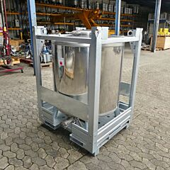Brand new 1000 liter IBC container, AISI 304 (ADR-approved)