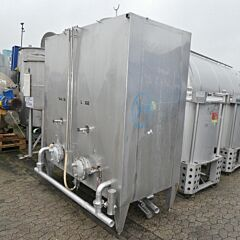 3600 liter (2 x 1800 liters) 2-chamber tank, Aisi 304
