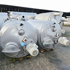 1500 Liter heat-/coolable tank, Aisi 304