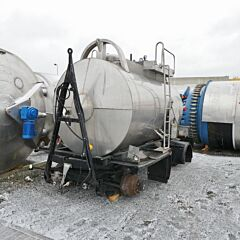 6000 liter mobile heat-/coolable pressure tank / tank trailer, Aisi 316