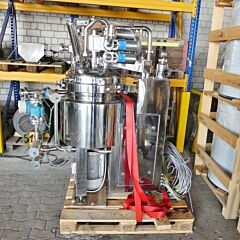 112 Liter heiz/-kühlbare Vakumix Prozessanlage / Homogenisiermischer aus V4A