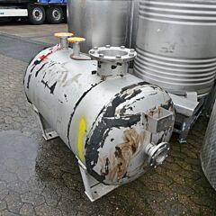 630 liter horizontal pressure tank, Aisi 316
