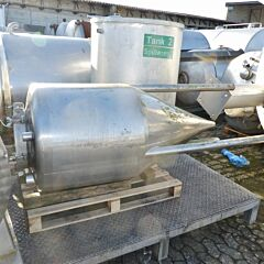 430 liter conical tank, Aisi 304