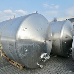 12000 liter horizontal tank, Aisi 316