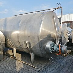20000 liter horizontal storage tank, Aisi 304 with propeller