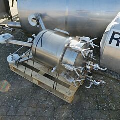 132 liter heat-/coolable, mobile pressure vessel, Aisi 316