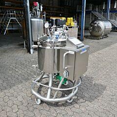 91 Liter heiz-/kühlbarer Druckbehälter aus V4A mit Magnetrührer