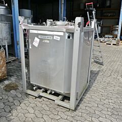 1000 liter heat-/coolable IBC-container, Aisi 304