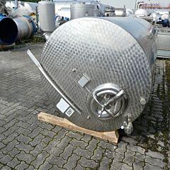 4300 liter horizontal tank, Aisi 304