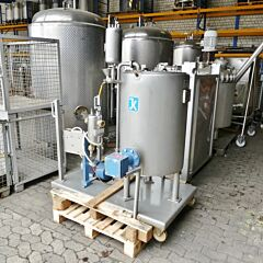 100 liter heatable dispersion tank, Aisi 316 with external disperser