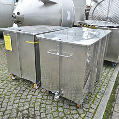 1000 Liter fahrbarer Rechteckbehälter aus V4A