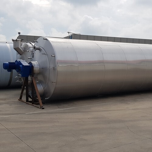22500 liter triple-jacketed mixing tank for chocolate